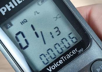 Philips Voice Tracer DVT1110 - Interfaccia