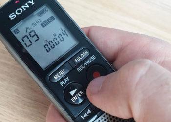 Registratore ICD-PX240 di Sony - Manipolazione